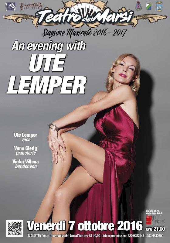 7 ottobre: Il mito UTE LEMPER inaugura il decimo anno del Teatro dei Marsi